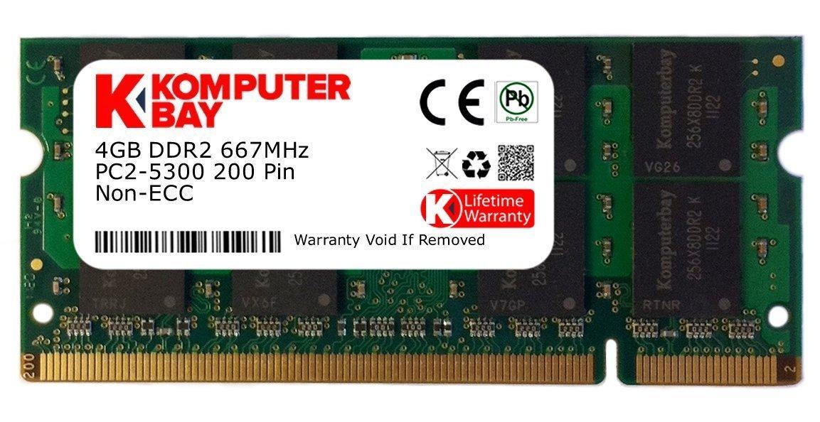 """Оперативная память Komputerbay 4ГБ DDR2 SODIMM667МГц  PC2-5400/5300 """"Over-Stock"""" Б/У"""