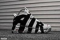 Кроссовки мужские Nike Air Uptempo White Black. ТОП КАЧЕСТВО!!! Реплика класса люкс (ААА+), фото 1