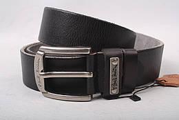 Ремень мужской джинсовый, цвет черный, натуральная кожа