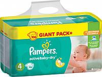 Подгузники Pampers Active Baby-Dry Размер 4 (Maxi) 8-14 кг, 106 шт