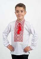 Вышиванка для мальчика с красно-черным орнаментом, арт. 4410