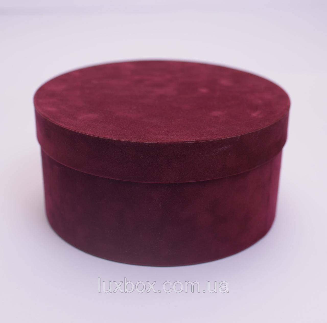 Шляпна коробка Велюрова(бархатна коробка) h11/d20