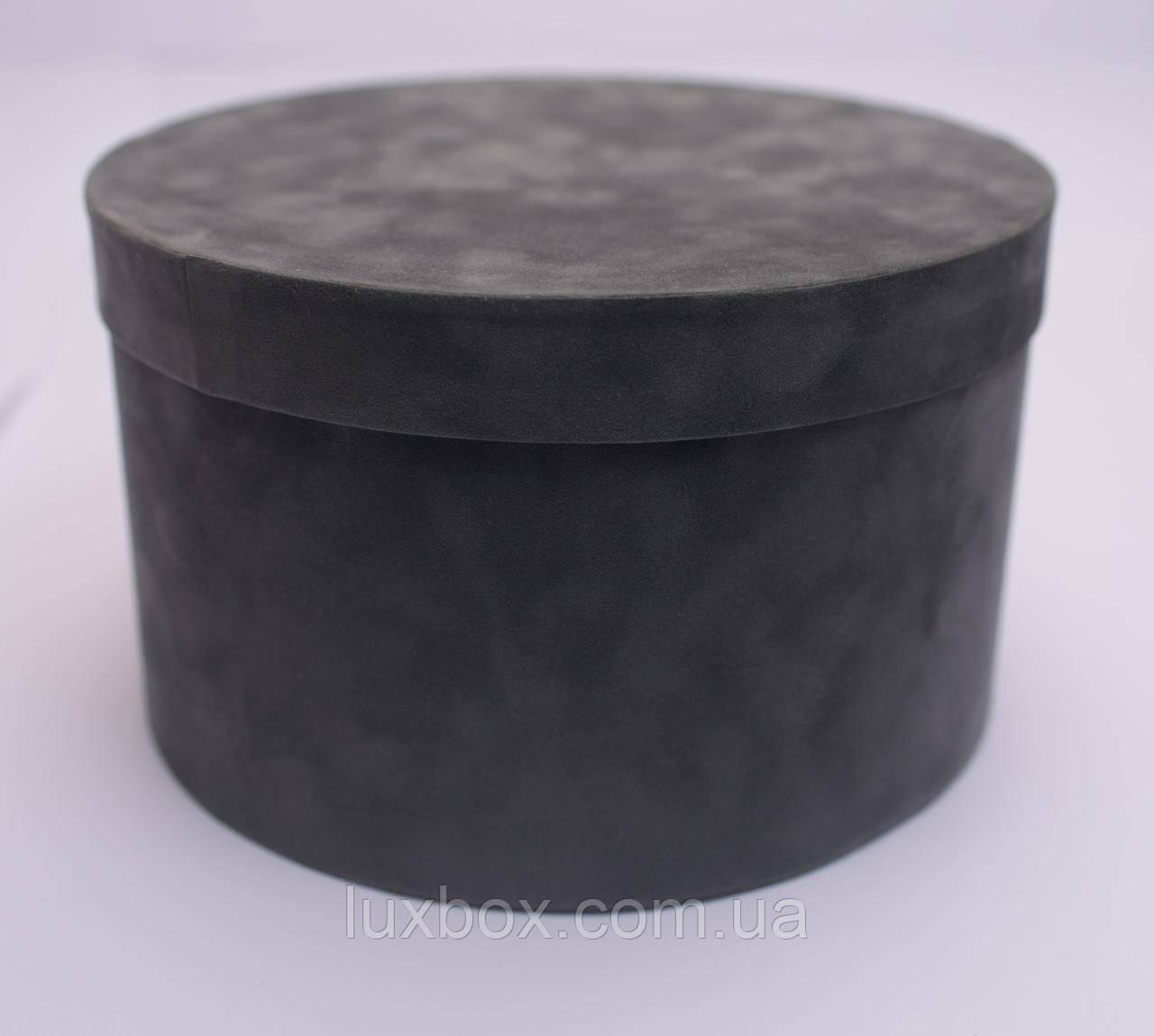 Шляпна коробка Велюрова(бархатна коробка) h13/d22