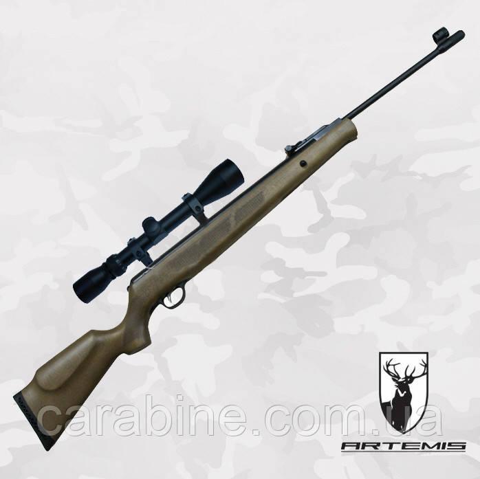 Пневматическая винтовка Artemis GR1600W с Газовой пружиной + Глушитель + ПО 3-9x40