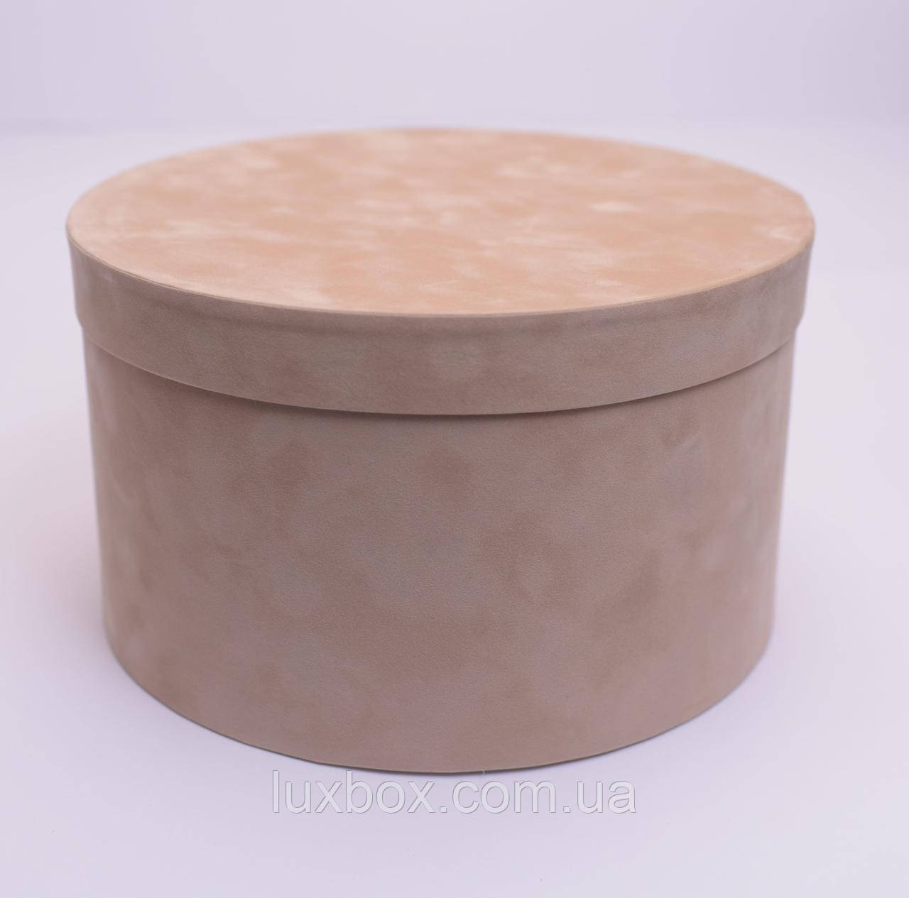 Шляпна коробка Велюрова(бархатна коробка) h15/d25