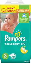 Подгузники Pampers Active Baby-Dry Размер 3 (Midi) 5-9 кг, 124шт