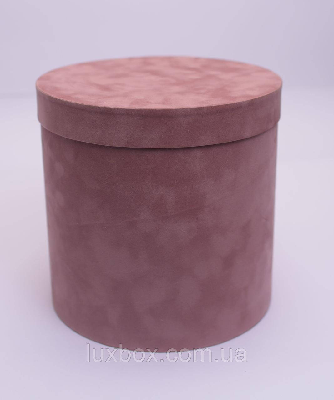 Шляпна коробка Велюрова(бархатна коробка) h16/d16