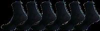 """Жіночі шкарпетки класичні чорні """"lomani"""""""