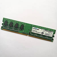 Оперативная память Crucial DDR2 1Gb 800MHz PC2 6400U CL6 (CT12864AA800.K8F) Б/У