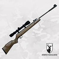 Пневматическая винтовка Artemis GR1250W с Газовой пружиной + ПО 3-9x40