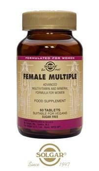 Вітаміни для жінок Solgar Female Multiple 60 tabs, фото 2