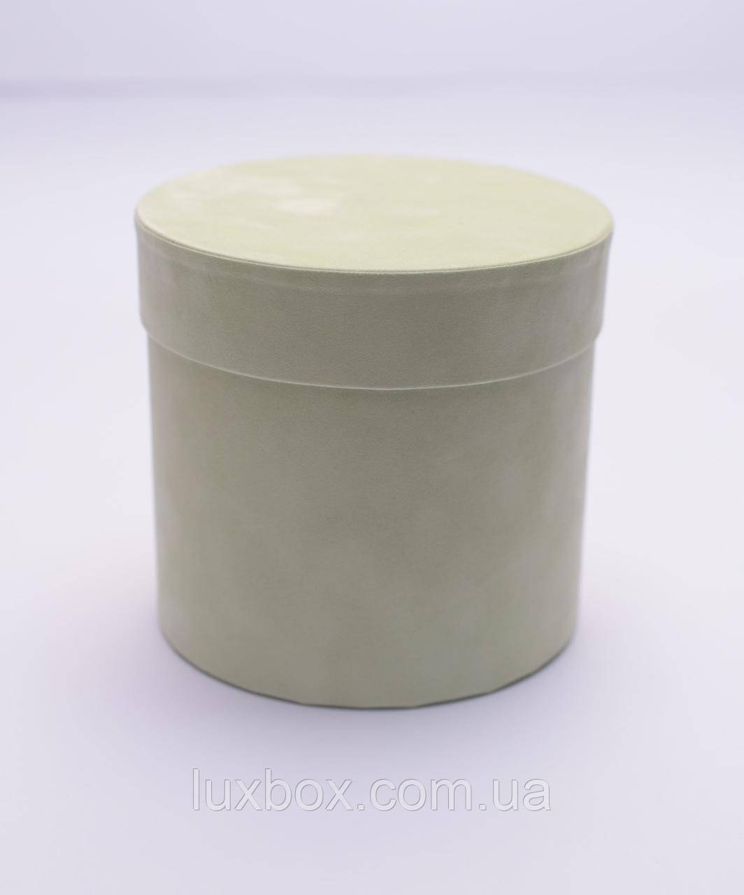 Шляпна коробка ВЕЛЮРОВА(бархатна коробка)h8/d12