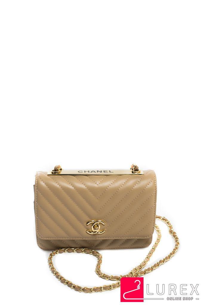 fdb21928f66b Бежевая сумка-клатч с ремнем цепочкой, маленькая - LUREX - модная женская  одежда и