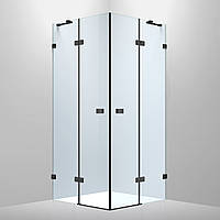 De la Noche черная Душевая кабина 90х90 квадратная Volle 10-40-194black, стекло прозрачное 8мм с Nano покрыти