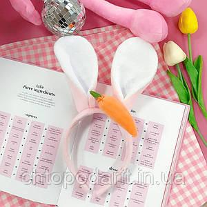 Обруч для волос с ушками зайца Код 10-2925
