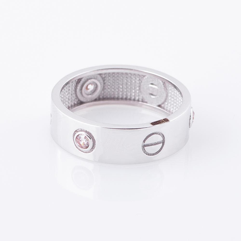 Золотое кольцо с фианитами гк05176