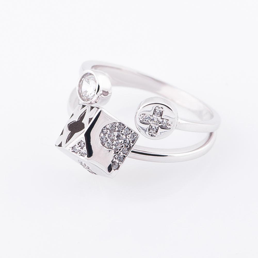 """Золотое кольцо """"Цветочек"""" с фианитами гк05199"""