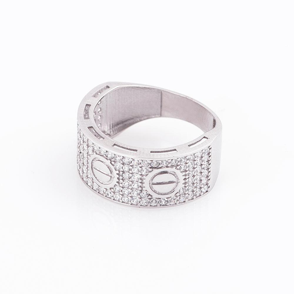 Золотое кольцо с фианитами гк05229