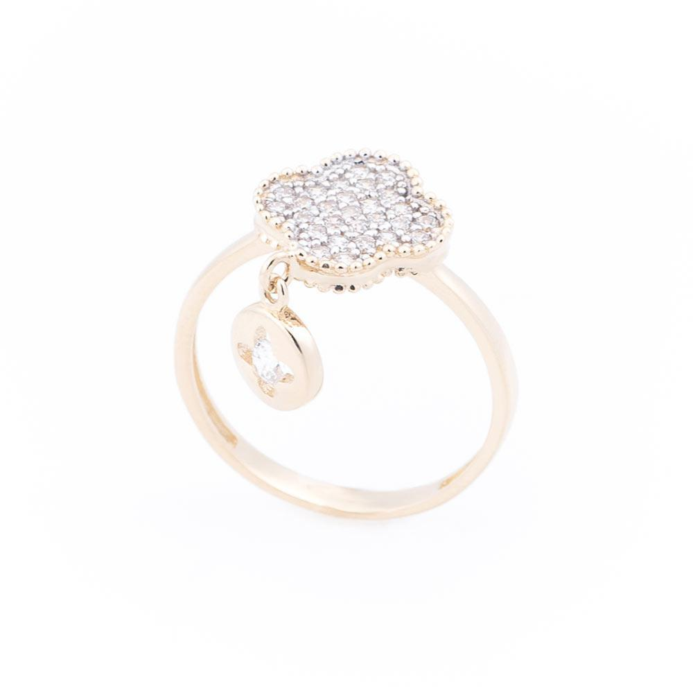 """Золотое кольцо """"Клевер"""" гк04936"""