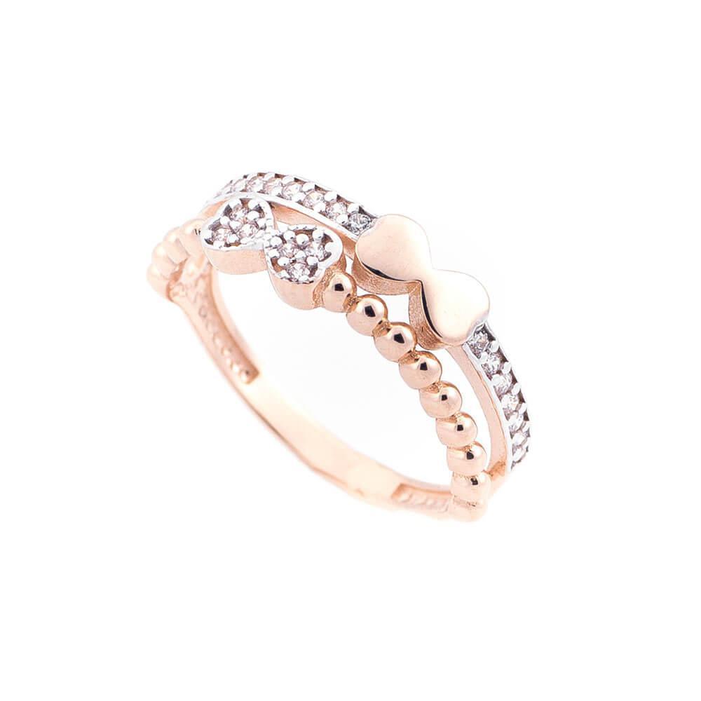 Золотое кольцо с фианитами гк05211