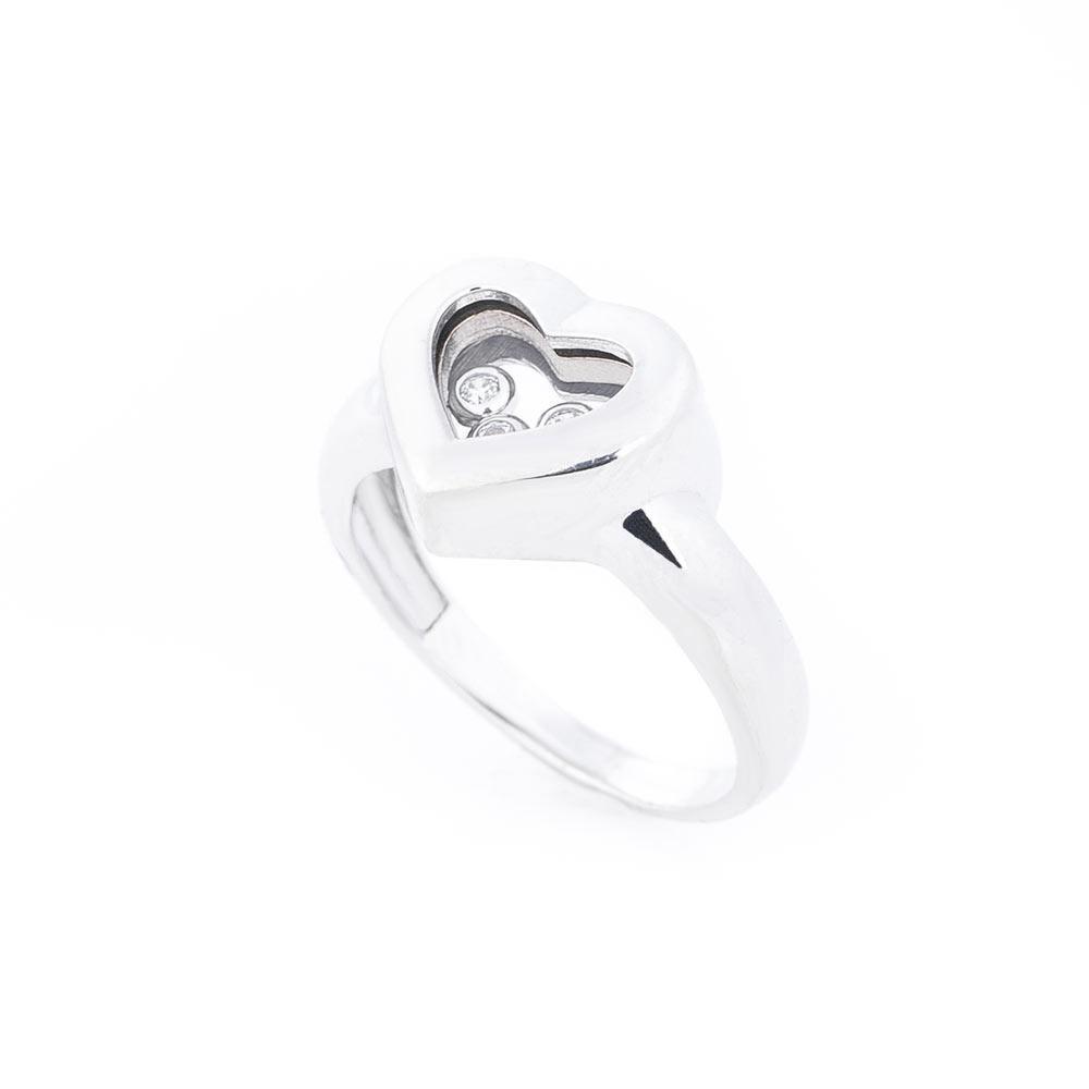 """Золотое кольцо """"Сердце с фианитом"""" гк04744"""