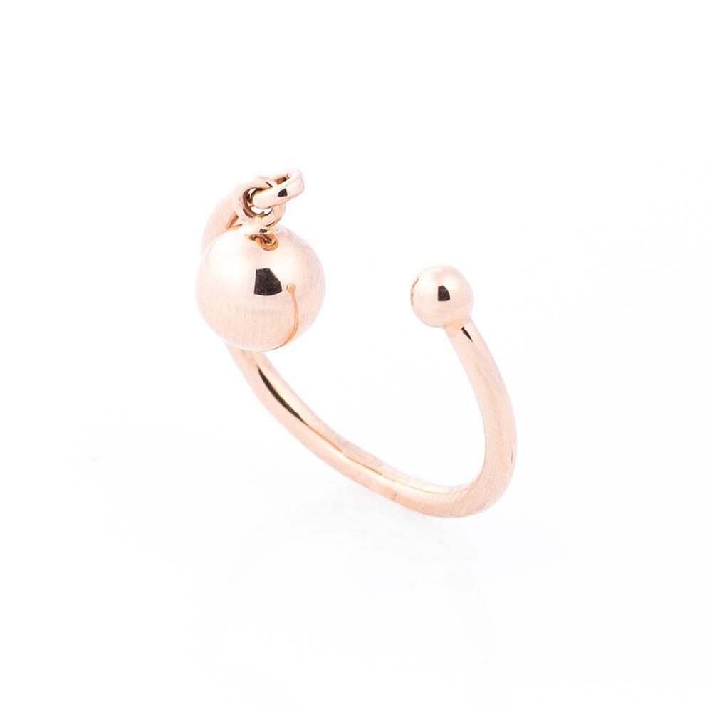 Золотое кольцо в стиле минимализм гк05458