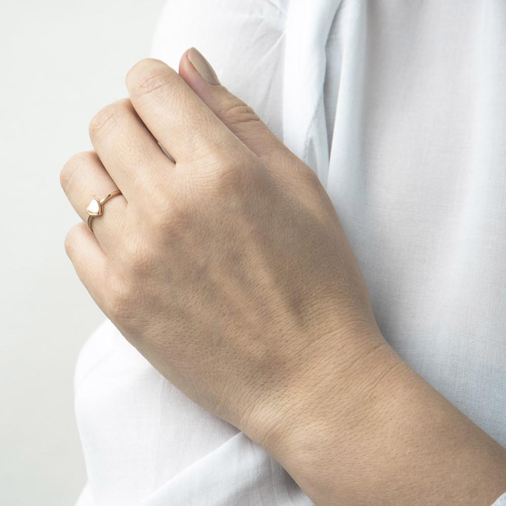 """Золотое кольцо """"Сердце"""" гк05539"""