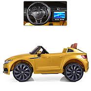 Электромобиль детский M 3993(MP4)EBLRS-6 Volkswagen Автопокраска желтый Гарантия качества Быстрая доставка, фото 3
