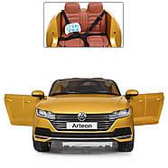 Электромобиль детский M 3993(MP4)EBLRS-6 Volkswagen Автопокраска желтый Гарантия качества Быстрая доставка, фото 2
