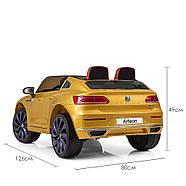 Электромобиль детский M 3993(MP4)EBLRS-6 Volkswagen Автопокраска желтый Гарантия качества Быстрая доставка, фото 5