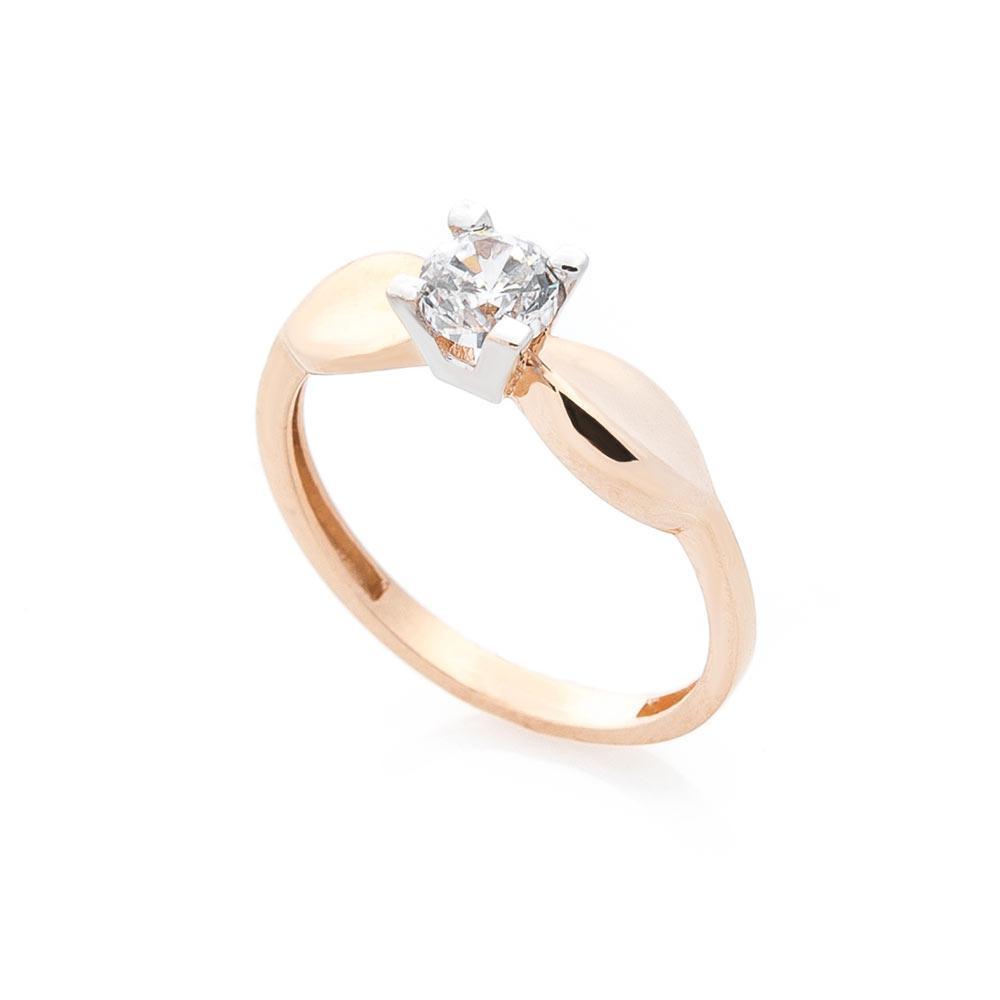 Золотое помолвочное кольцо с фианитом гк05239