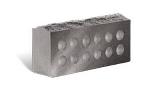 Кирпич Литос скала серый пустотелый 250х100х65 мм