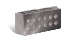 Облицовочный кирпич Литос скала серый пустотелый 250х100х65 мм