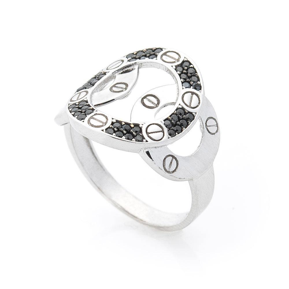 Золотое кольцо с фианитами гк05578