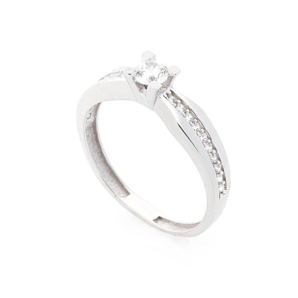 Золотое помолвочное кольцо с фианитами гк05647