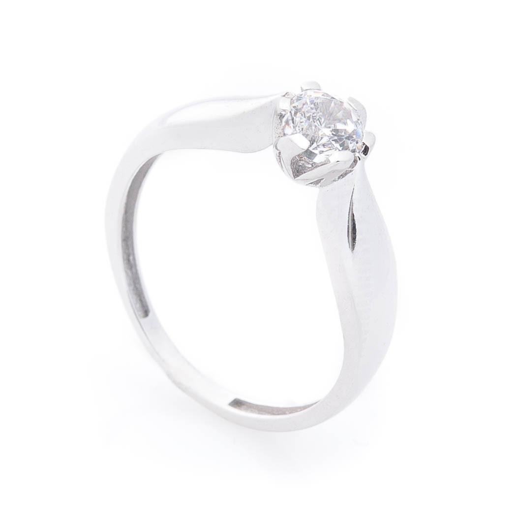 Золотое кольцо с фианитом гк05373