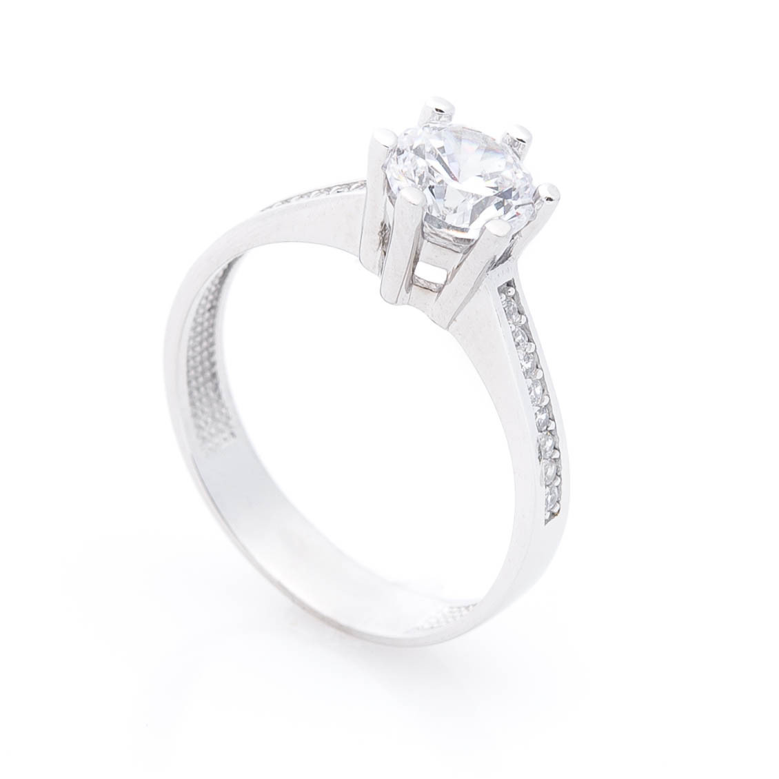 Золотое помолвочное кольцо с фианитами гк04734