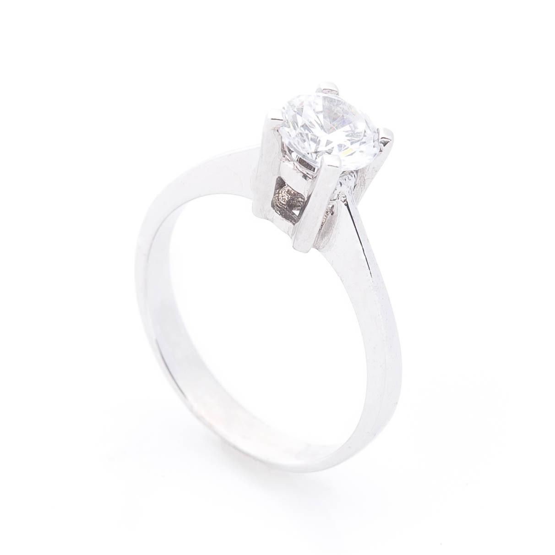 Золотое помолвочное кольцо с фианитом гк03098