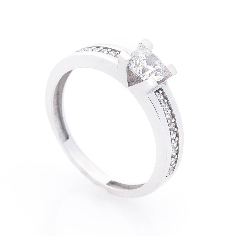Золотое помолвочное кольцо с фианитами гк04609