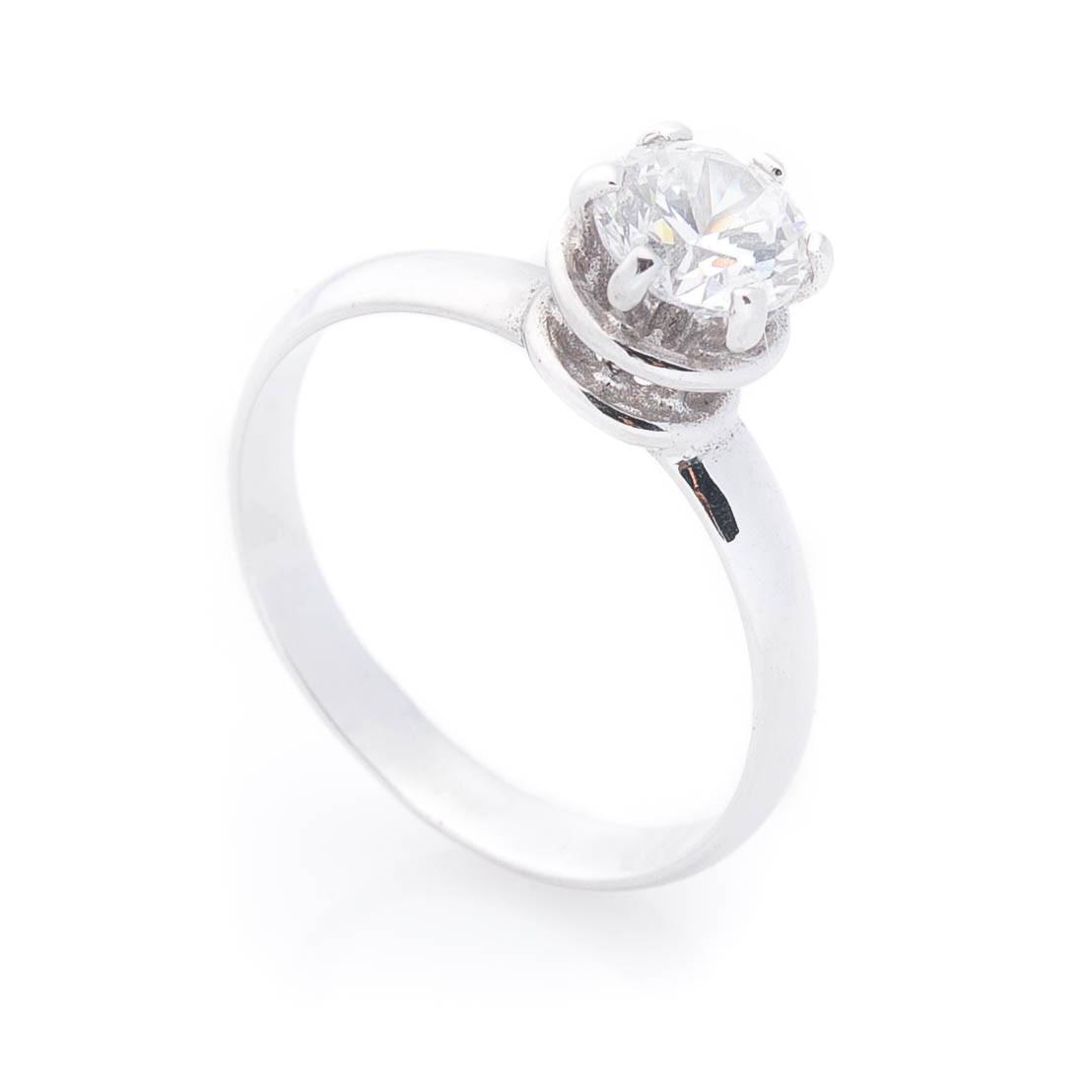 Золотое помолвочное кольцо (фианит) гк02541
