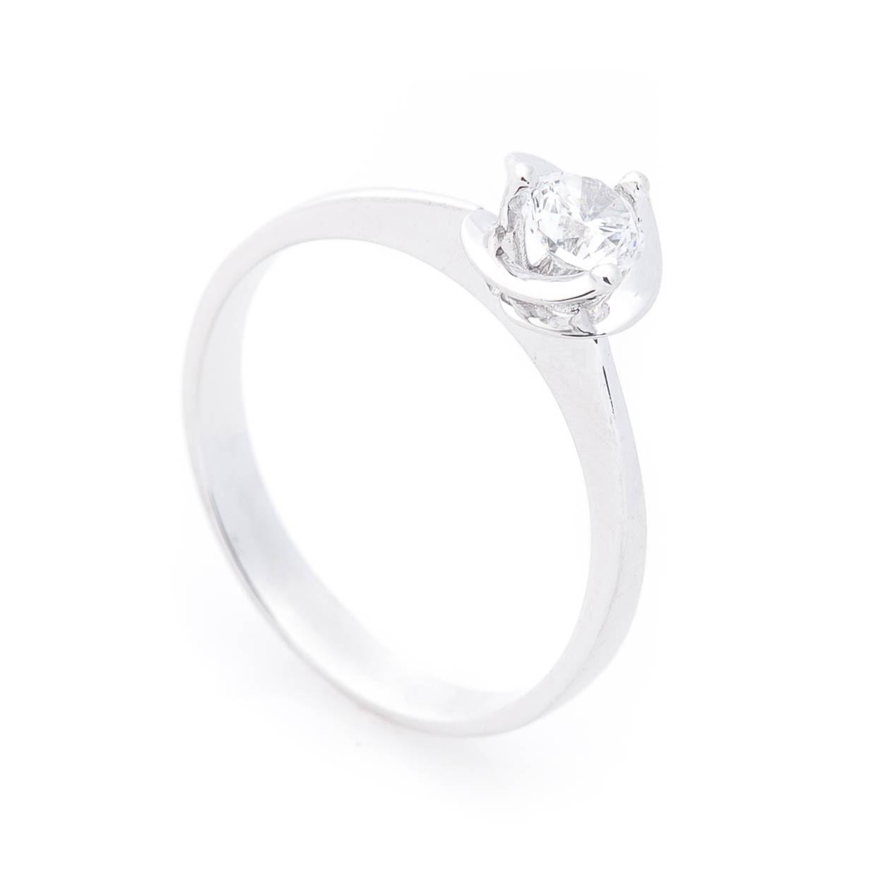 Каблучка заручальна біле золото гк02601