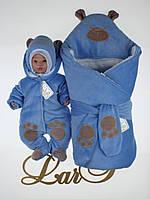 "Набор ""Панда"", голубой велюр, зима, фото 1"