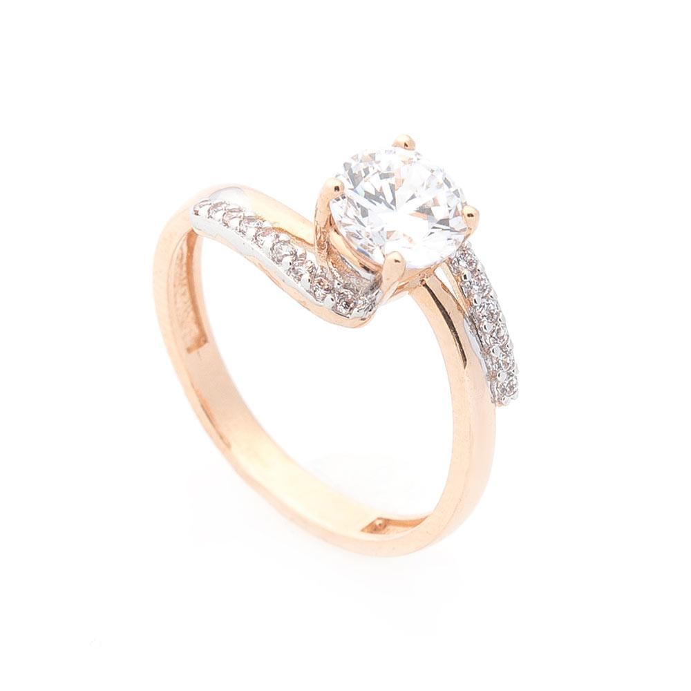 Золотое кольцо с фианитами гк02969