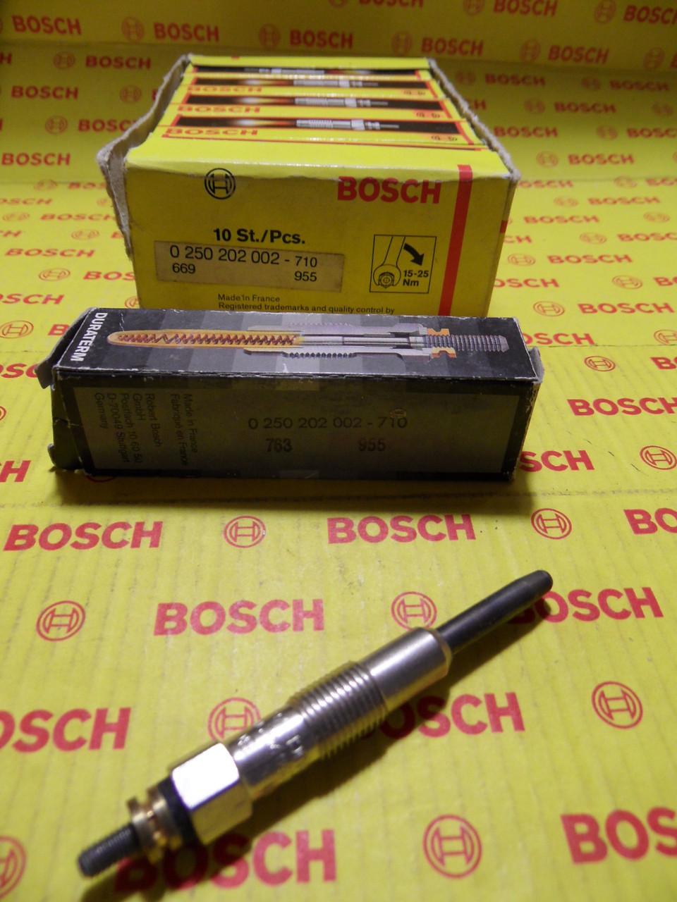 Свечи накаливания Bosch Duraterm, 0250202002, 0 250 202 002