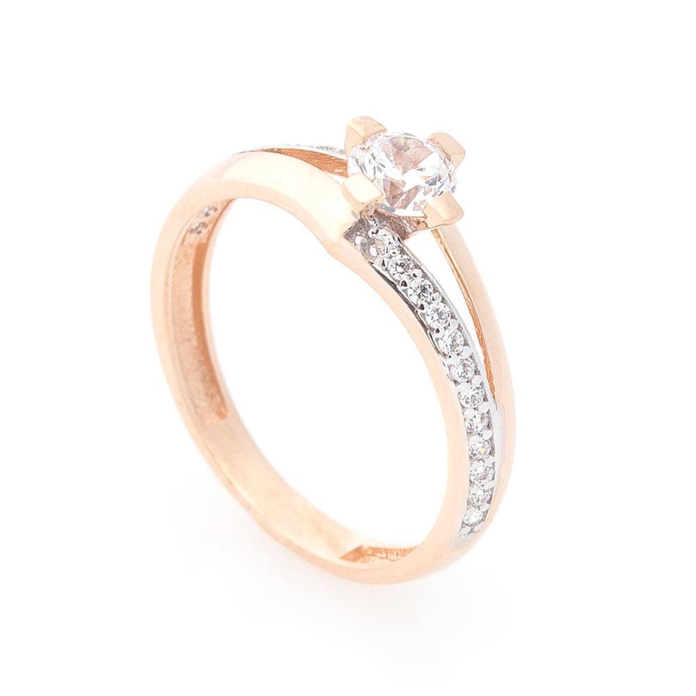 Золотое помолвочное кольцо (фианиты) гк03326