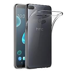 Прозрачный Чехол HTC Desire 12 Plus (ультратонкий силиконовый) (НТС Дизаер 12 Плюс)
