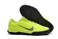 Футбольные сороконожки Nike Mercurial Vapor Fury XII Pro TF Volt/Black, фото 1