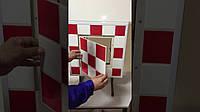 Люк невидимка ревізійний сантехнічний НАТИСКНИЙ тип «ФРН 50*50» під плитку, кахель, мозаїку,