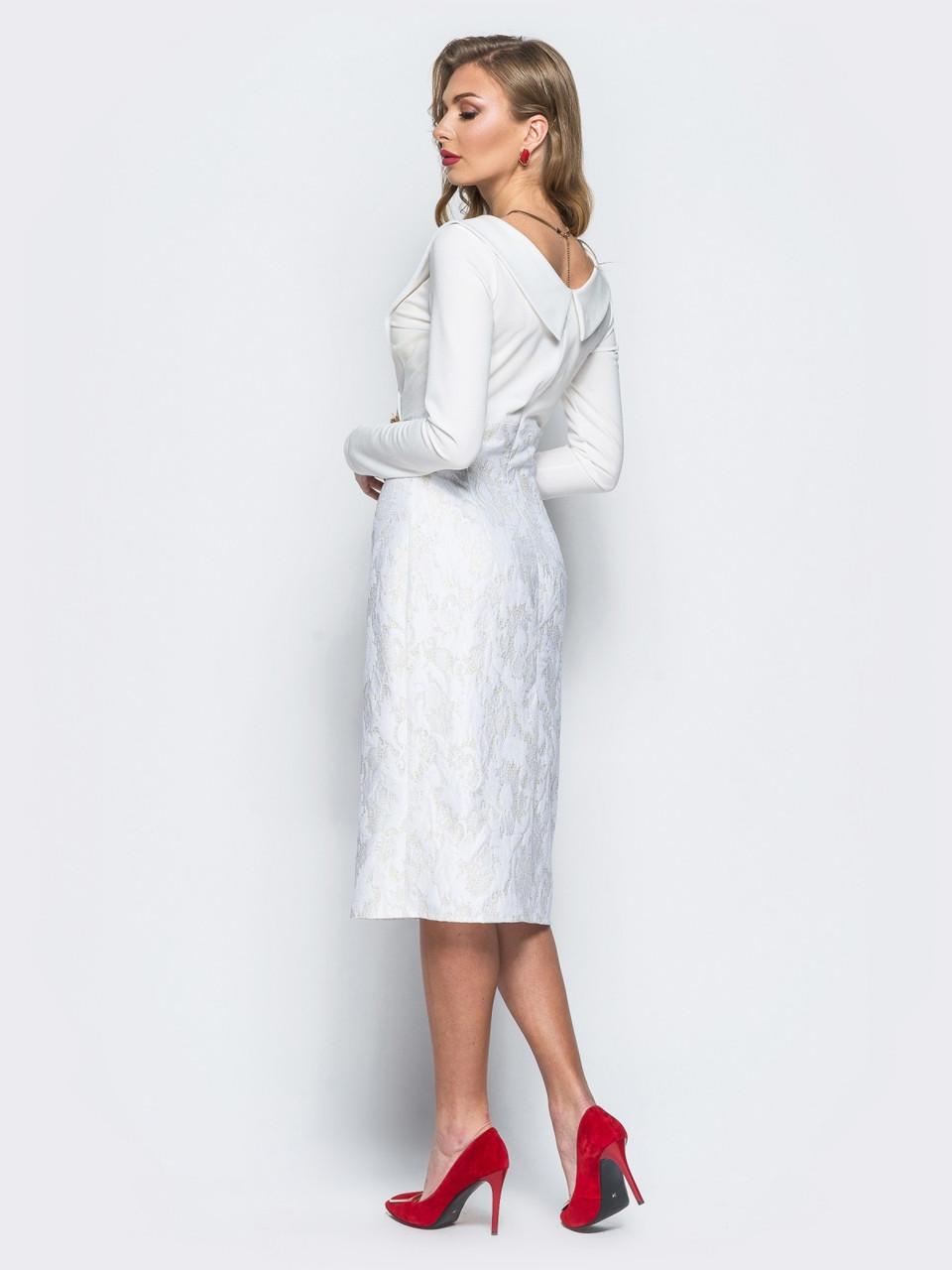 1a0fae8d39d Описание 💎Винтажное платье-футляр с V-образным вырезом (белое