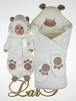 "Набор ""Панда"" молочный, велюр, зима, фото 1"